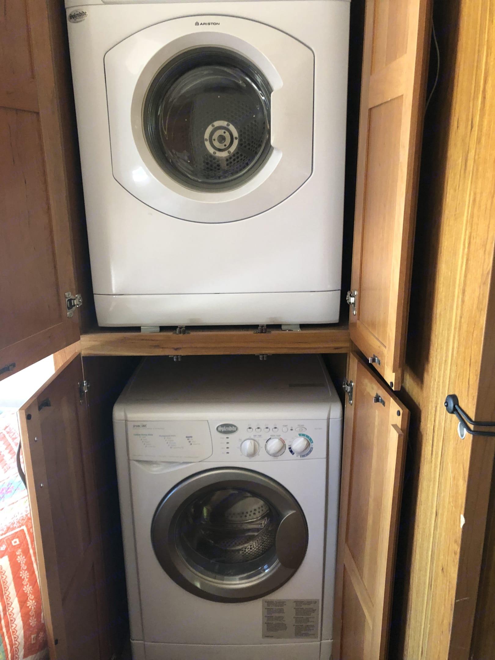 Washer and dryer. Jayco Seneca 2016