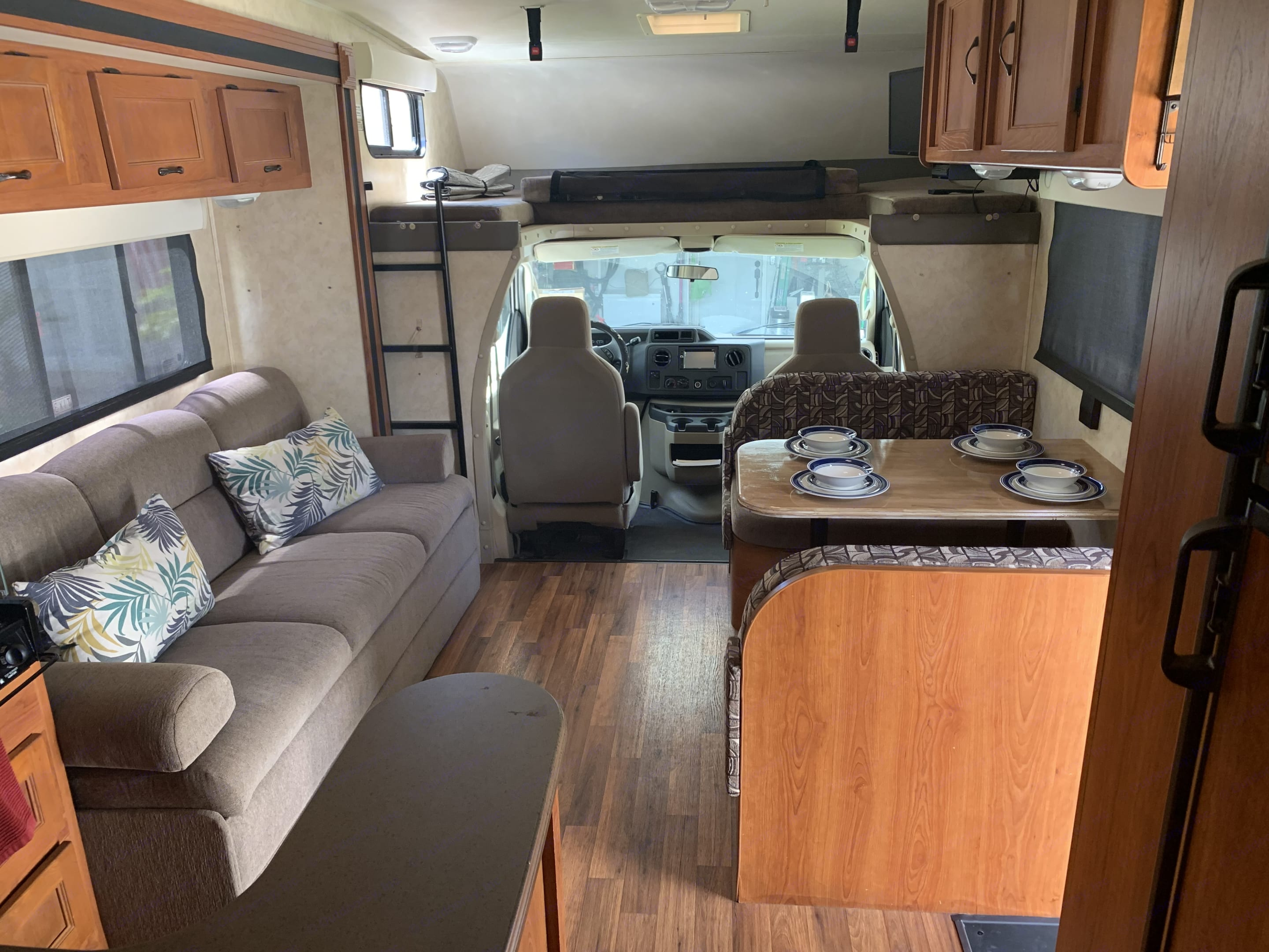 Living area with slide out Front View. Coachmen Freelander 2011