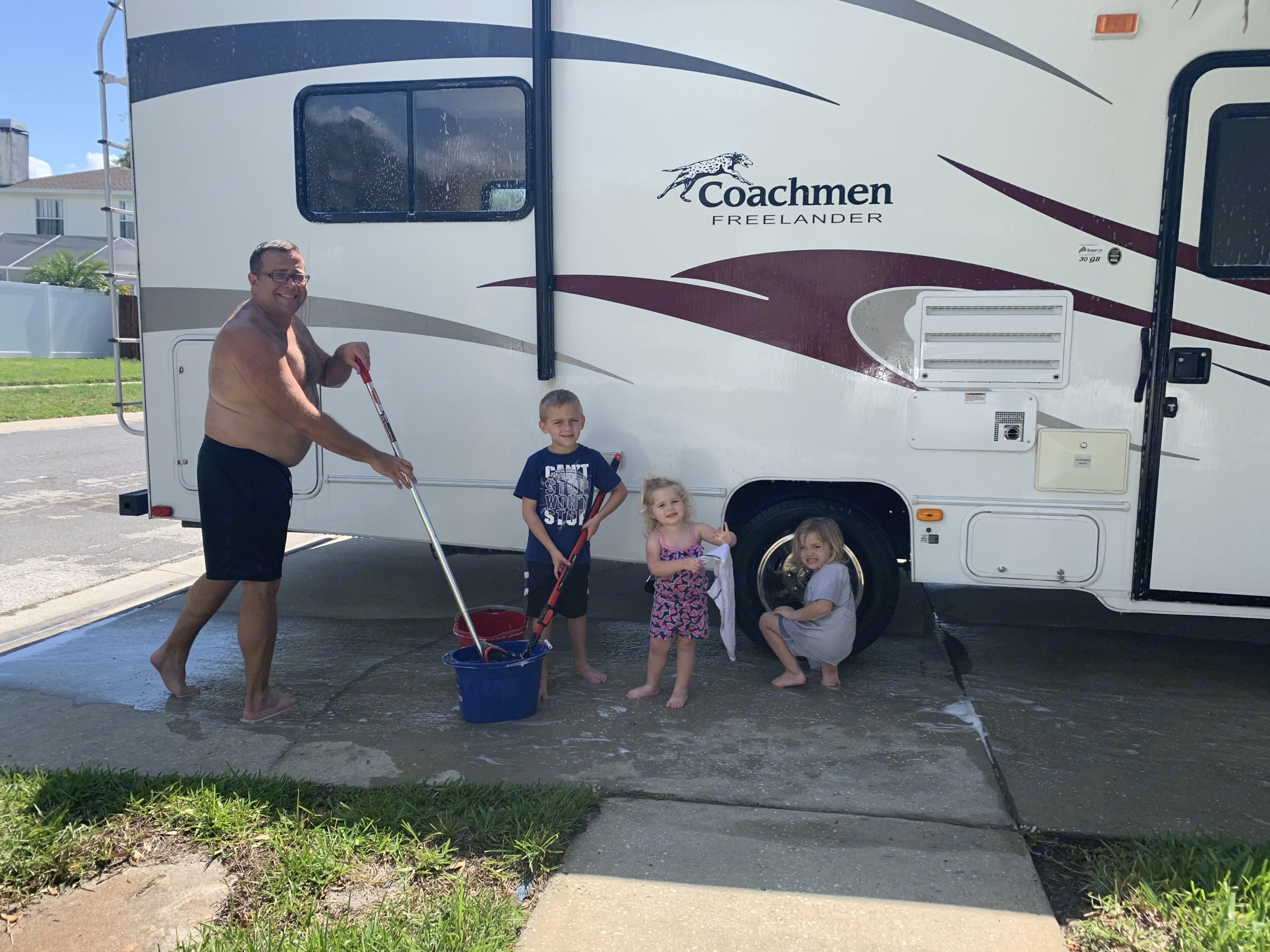 Our cleaning Crew!  They work hard to help make your experience extra special!. Coachmen Freelander 2011