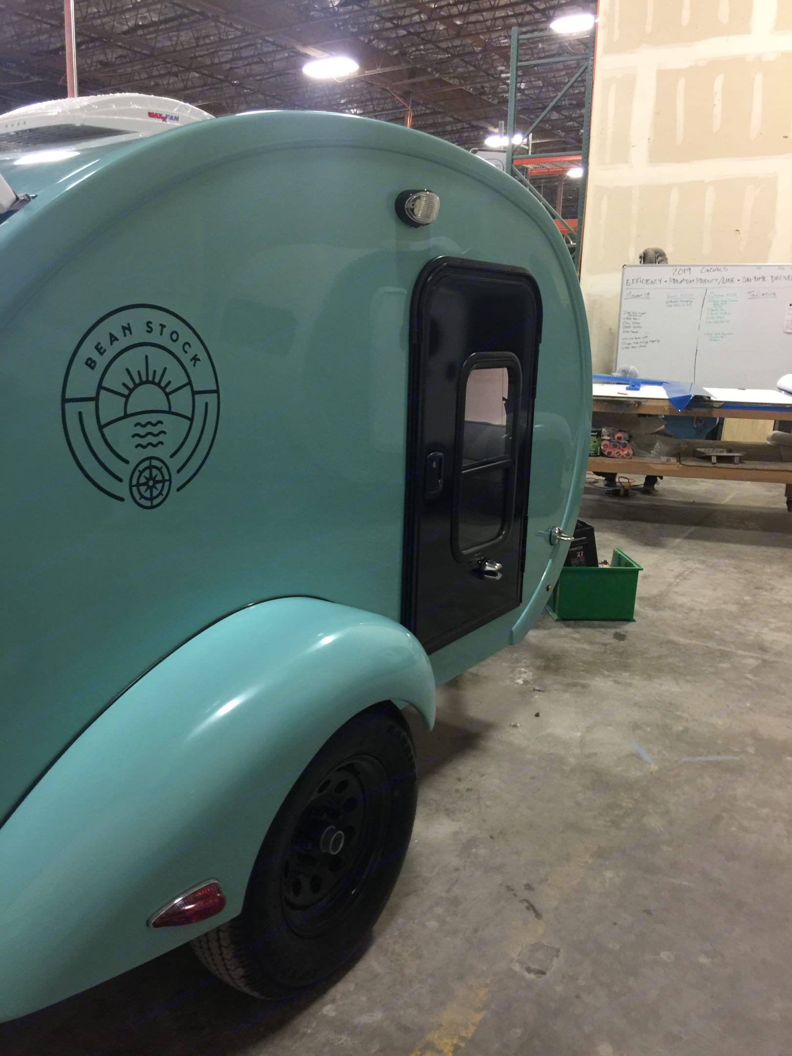 """Brand new tear drop is 9 feet long.  We have found that some walk in campgrounds will accept this as a """"tent.""""  This camper works great wit. bean bean stock 2018"""
