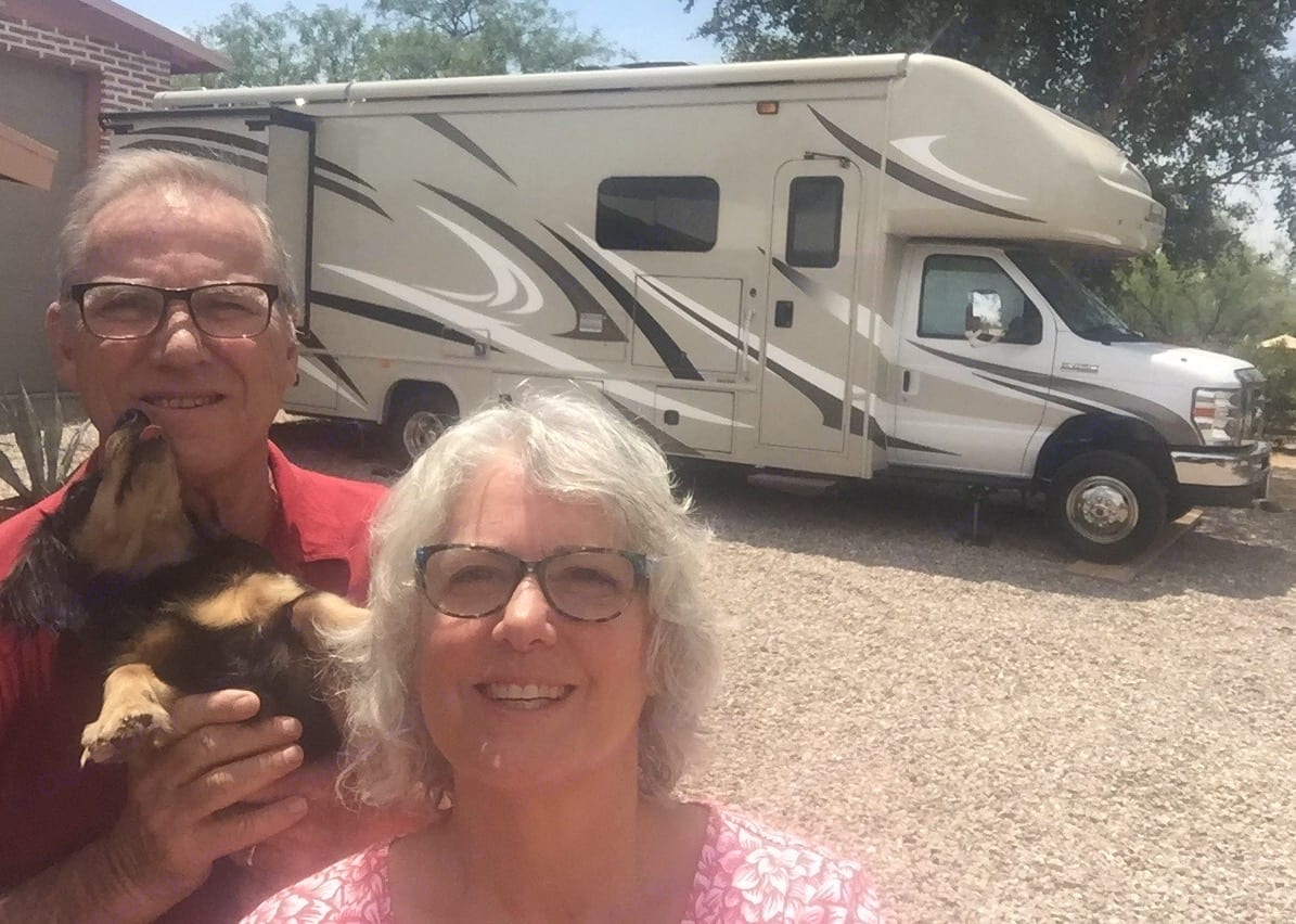 """We had just arrived home with our new RV after trading in the """"Babs"""" (43' ft Monaco). Fleetwood Jamboree 2018"""