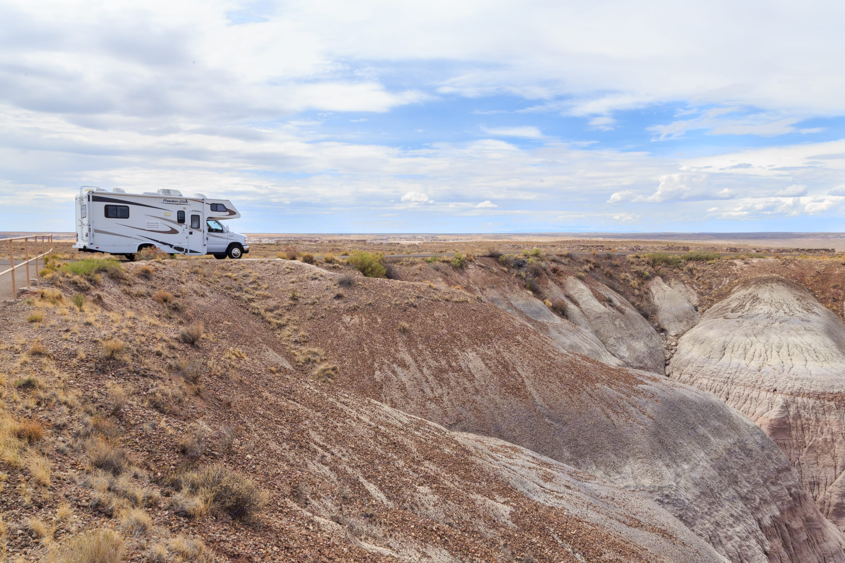 Photo from our Arizona trip, we were in Petrified Forest National Park. Thor Motor Coach Freedom Elite 2011