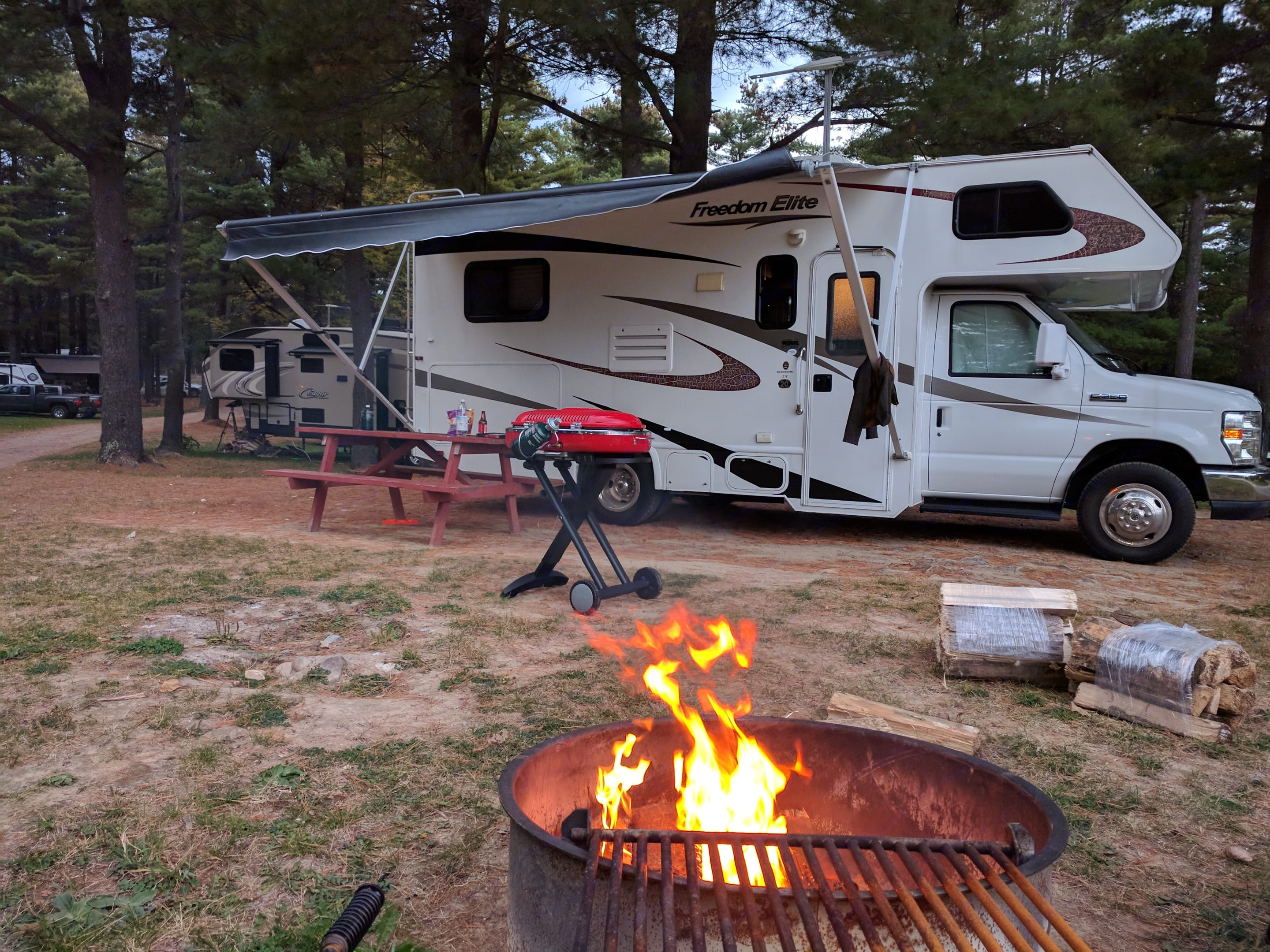 Camping at The Ausable Chasm in Keeseville, NY. Thor Motor Coach Freedom Elite 2011