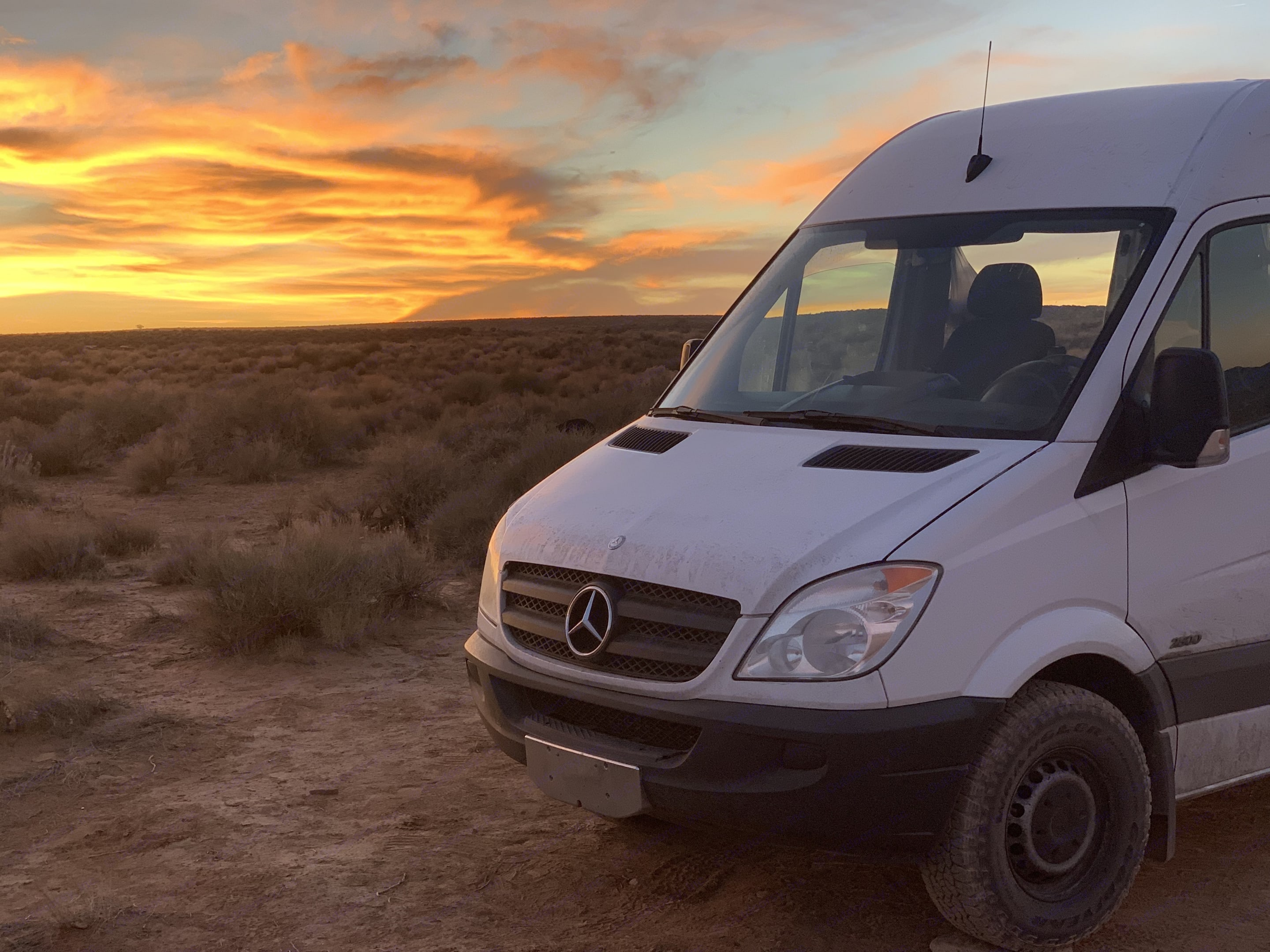 Sunset in the desert... You need to experience this!. Mercedes-Benz Sprinter 2011