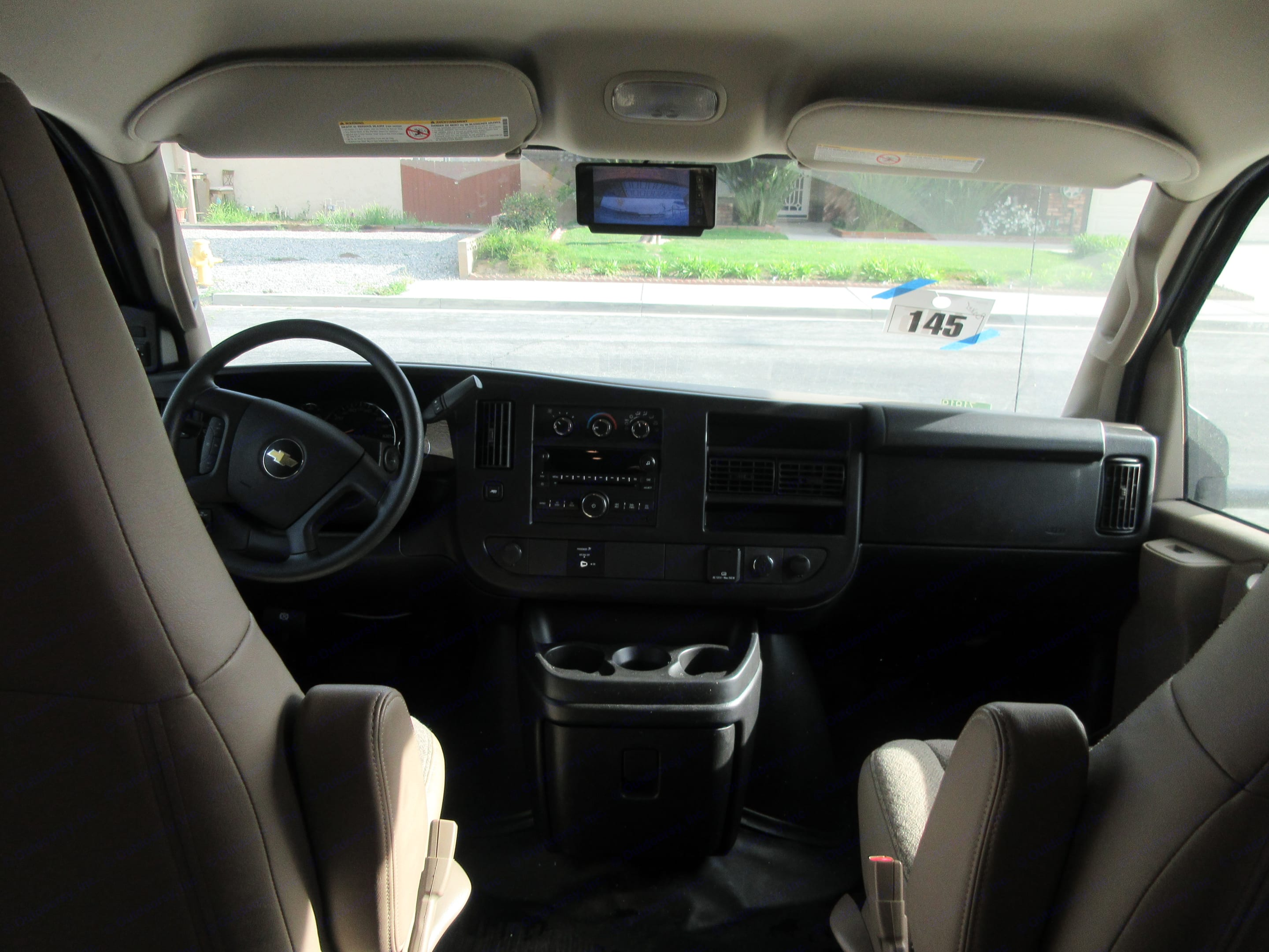 Driver and passenger area.  RV is equipped with rear view camera.. Jayco Redhawk 2018