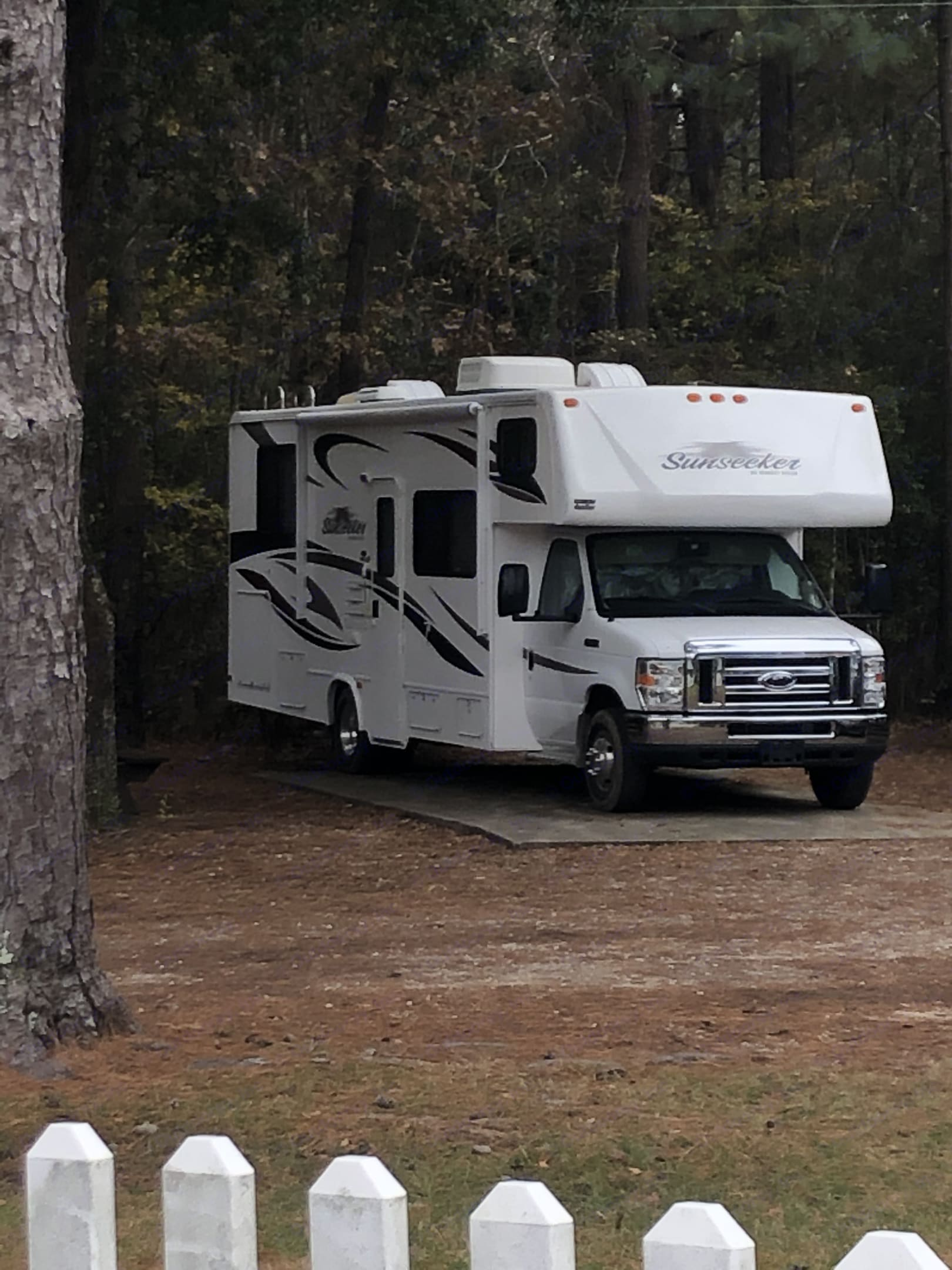 This was camping at Holbrook park.. Forest River Sunseeker 2013