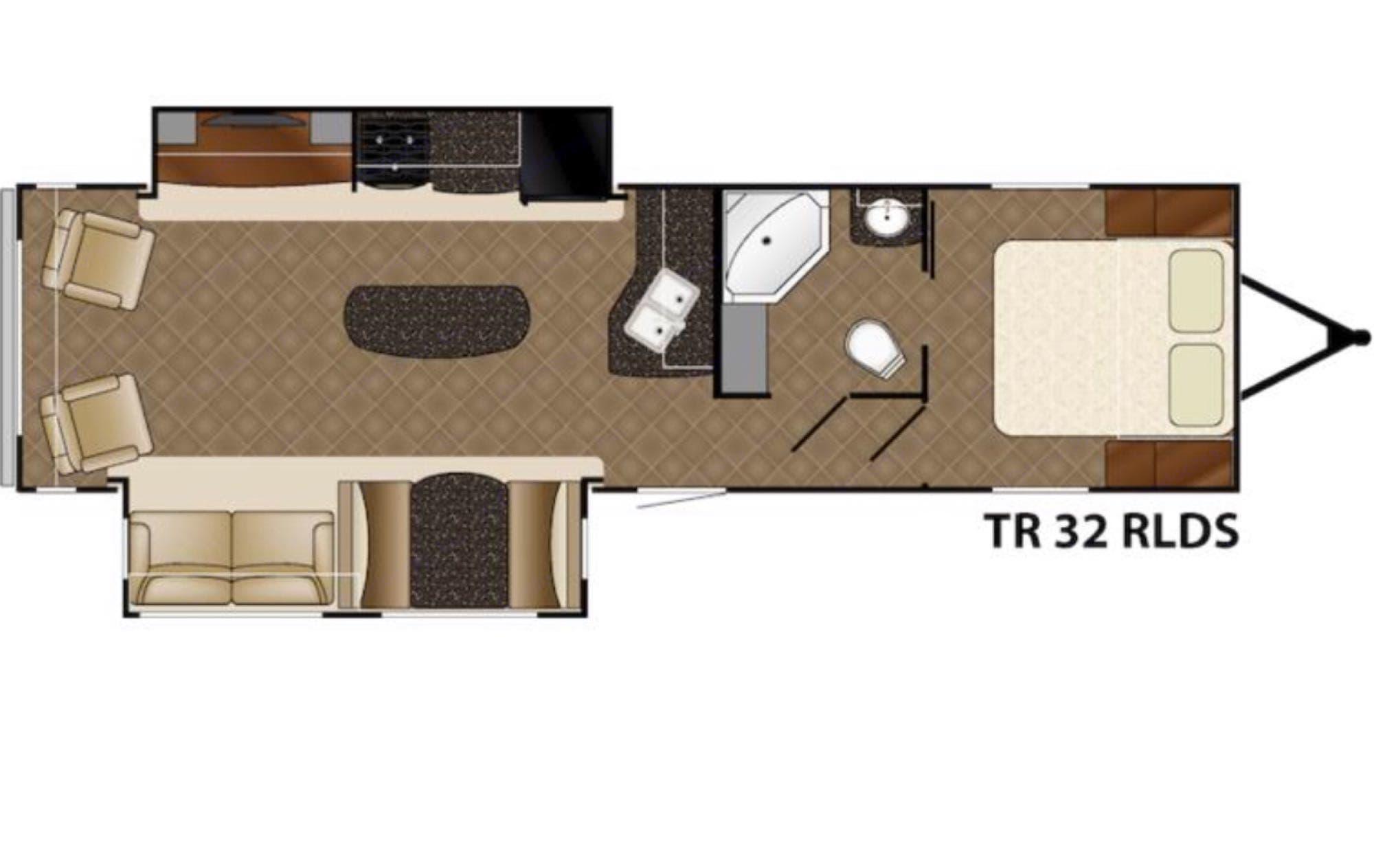 floor plan . Heartland Prowler 2015