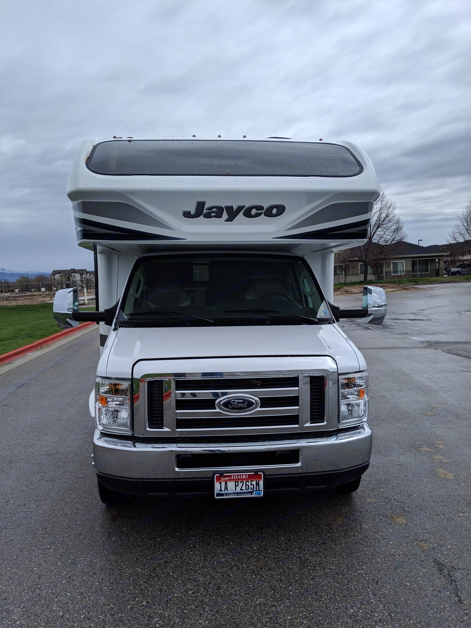 Head on, check out the automotive grade window in the cab over section.  This allows in plenty of natural light.  It comes with a power operated shade.. Jayco Greyhawk 2018
