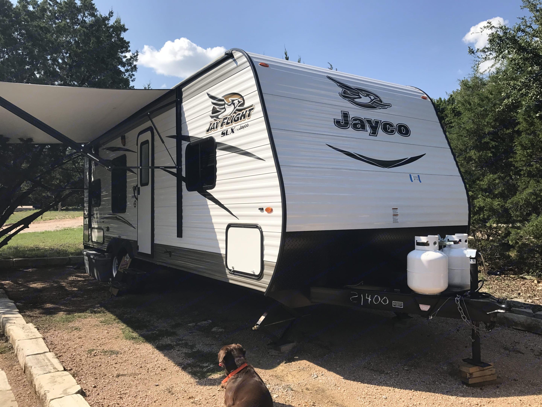 Awning out . Jayco Jay Flight 2017