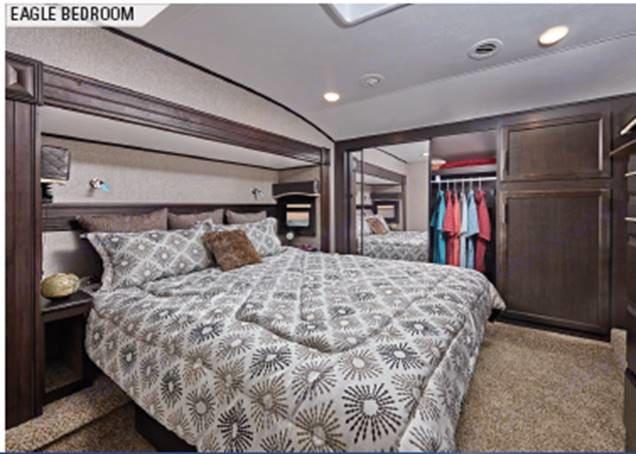 Master bedroom - King bed. Jayco Eagle 2019