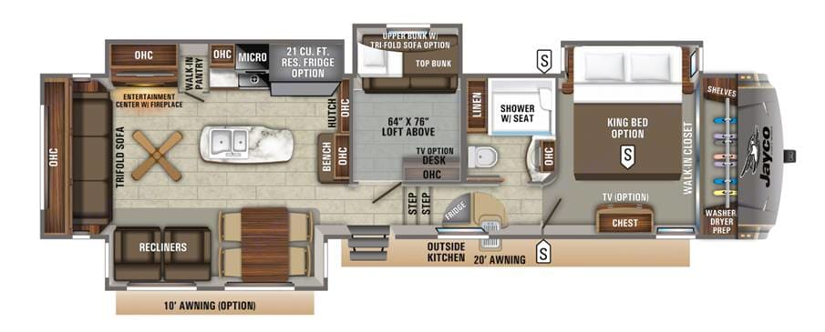Floor plan. Jayco Eagle 2019