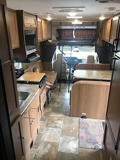 View from Kitchen. Coachmen Leprechaun 2017