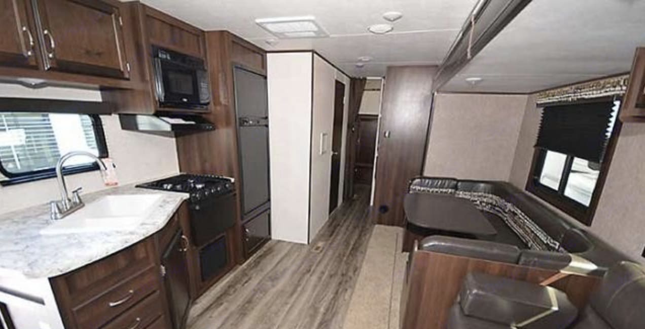 Spacious, updated brand new interior outfitted with everything you need!. Jayco Jay Flight 2018