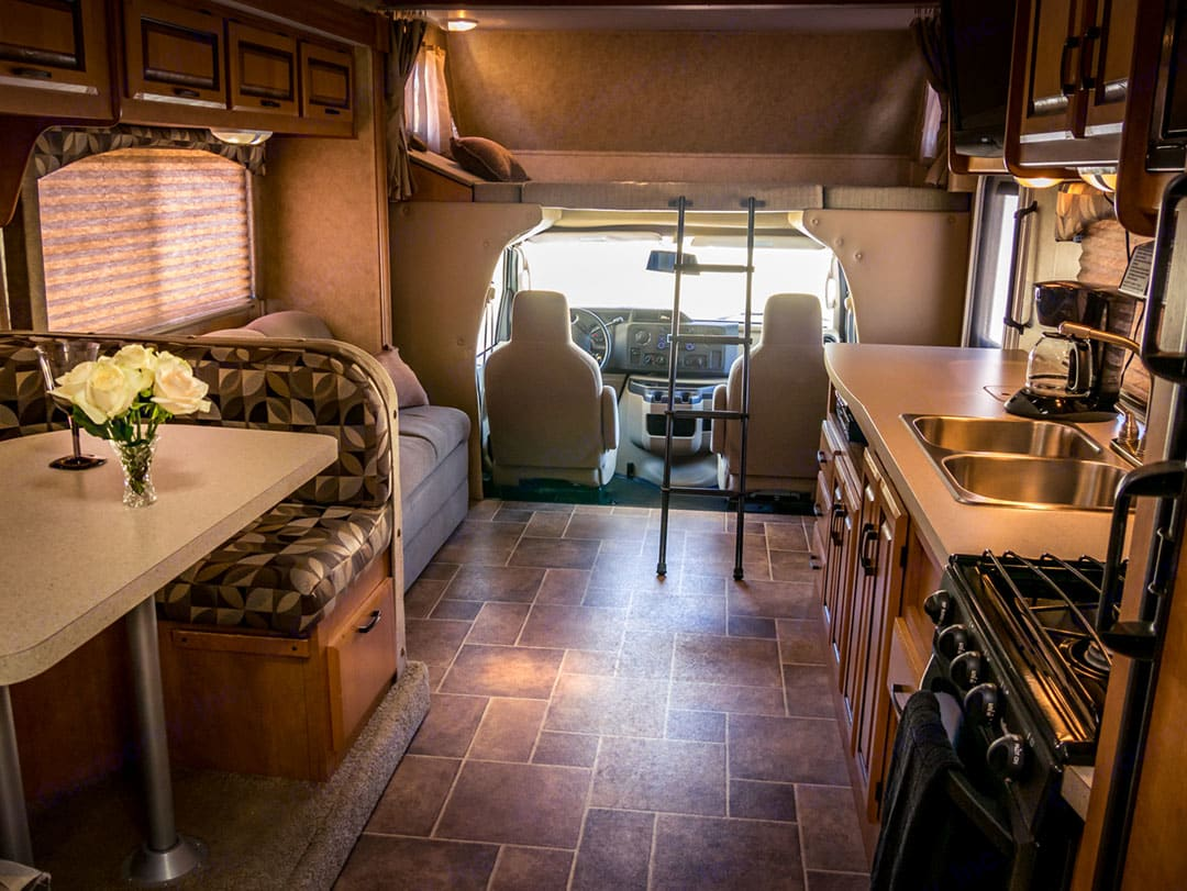 Over cab bunk for extra sleeping space, or storage!. Forest River Sunseeker 2012
