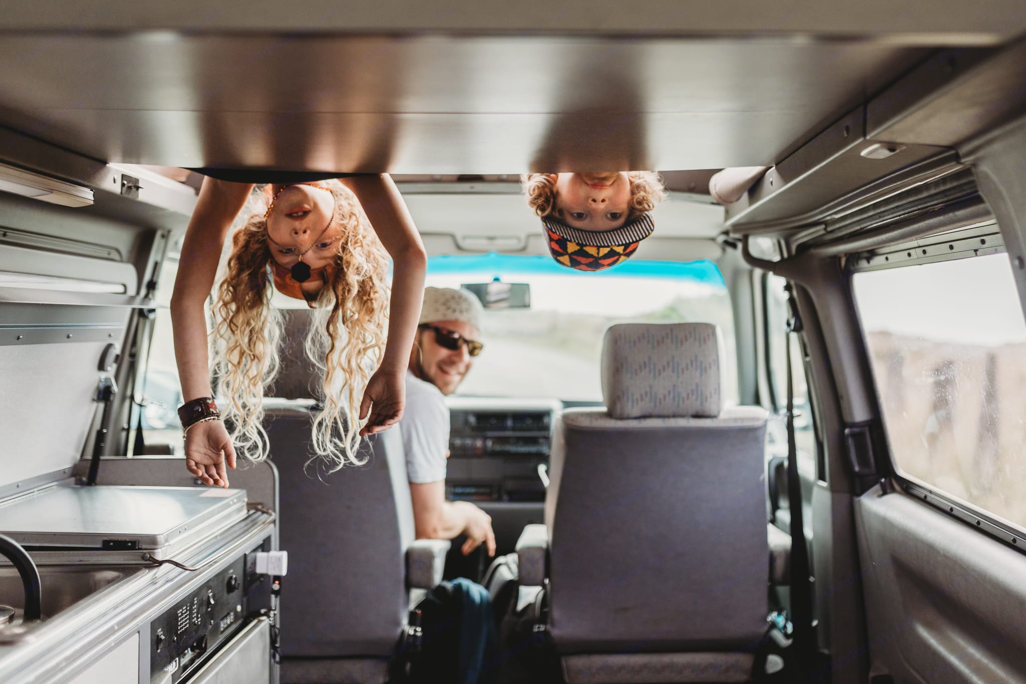 Kids love the top bunk. In addition to providing a sleeping space, it is also a rec room that delivers hours of entertainment.  . Volkswagen Eurovan Camper 1995
