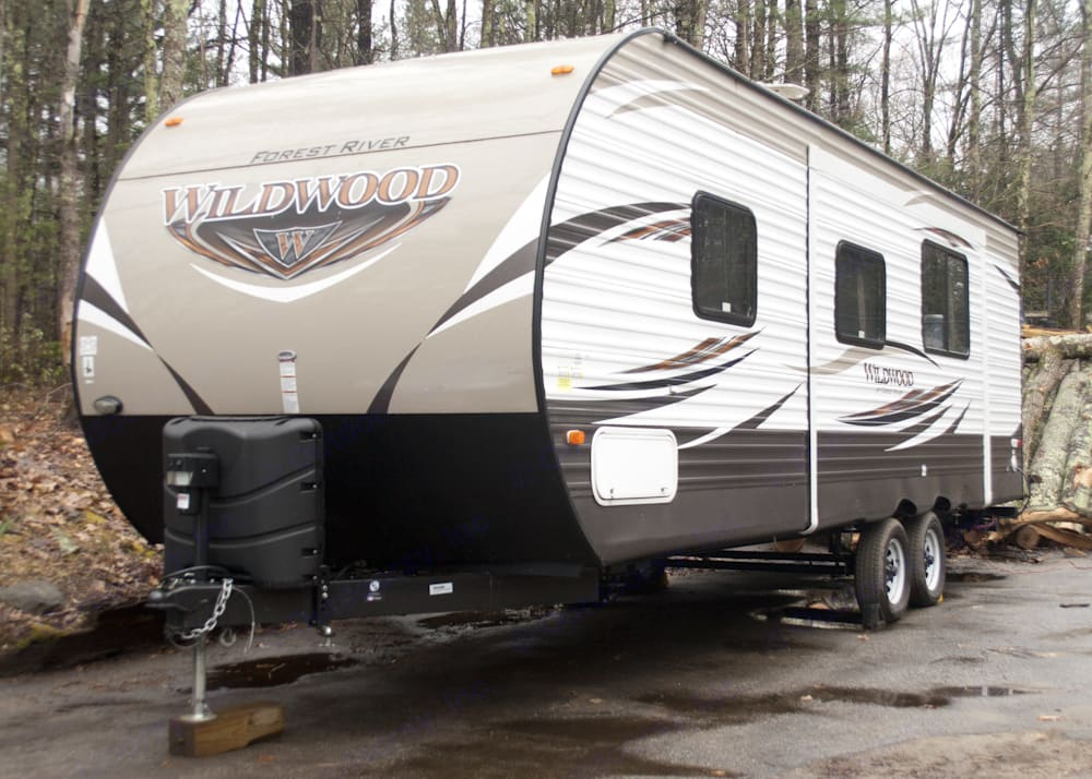 Exterior view of trailer shown with slide in.. Forest River Wildwood 26TBSS 2017