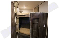 """Bunkbeds.  Easy to use/store ladder.  Accommodates any adult up to 6'5"""". Coachmen Apex 2019"""