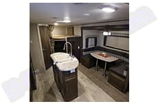 You can see the dinette slide-out and the bunkbeds.  Great space!. Coachmen Apex 2019