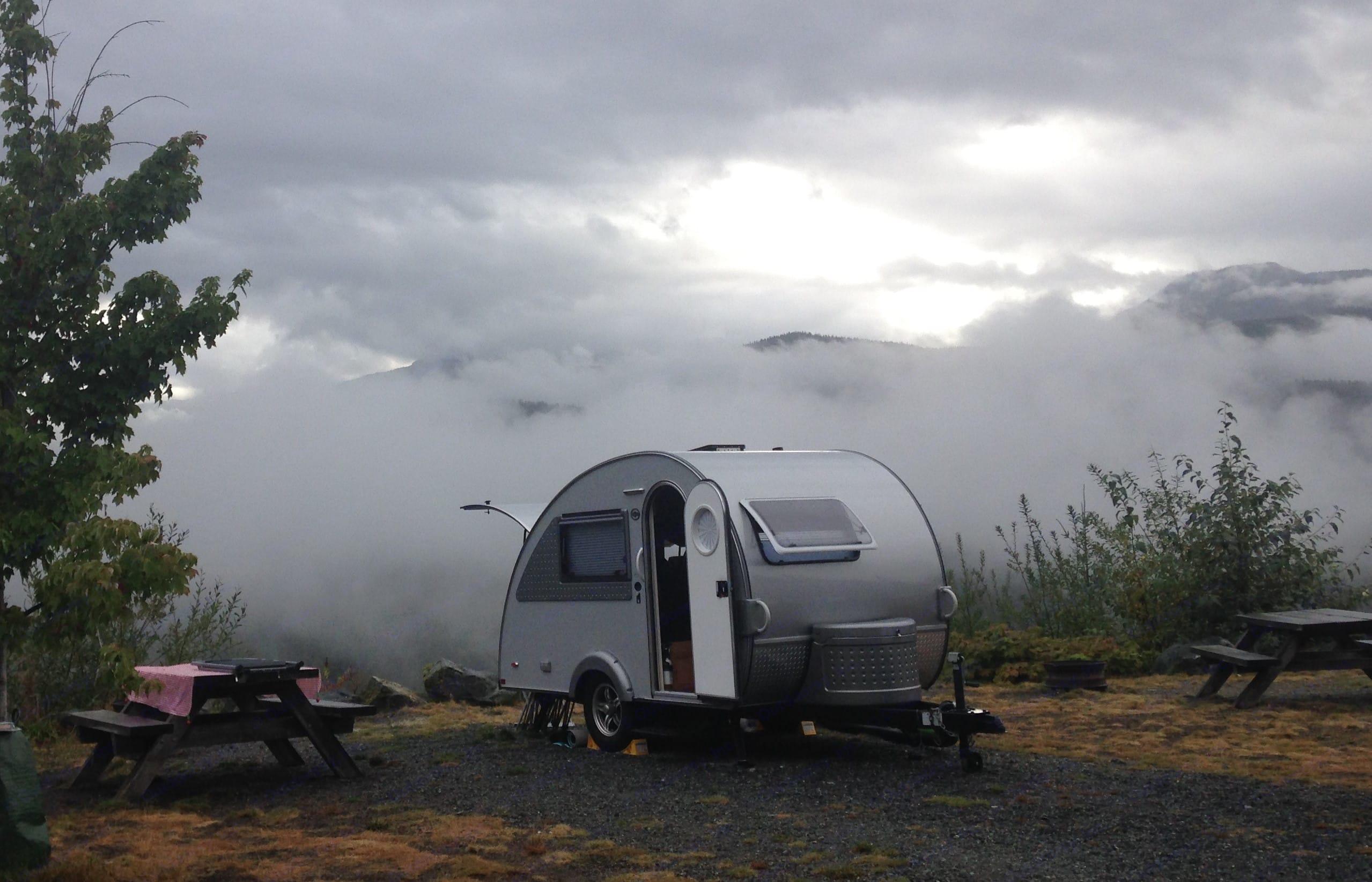 Camping near Whistler, BC. T@B 320 RS 2017