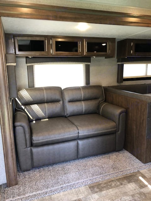 Not only is this loveseat comfortable and stylish, it pulls out into a very comfortable double bed.. Forest River Rockwood Ultra Lite 2020