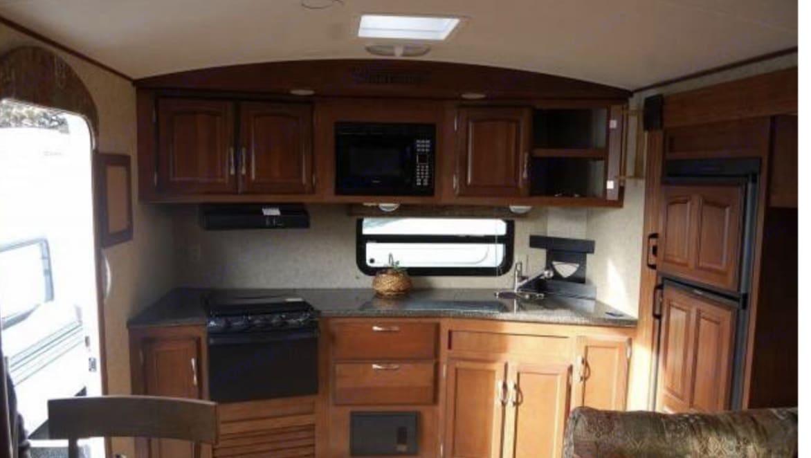 Upgraded rear kitchen . Winnebago One 2010