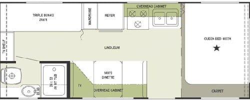 Flagstaff 24 pieds, double '' bunk bed'' 2006