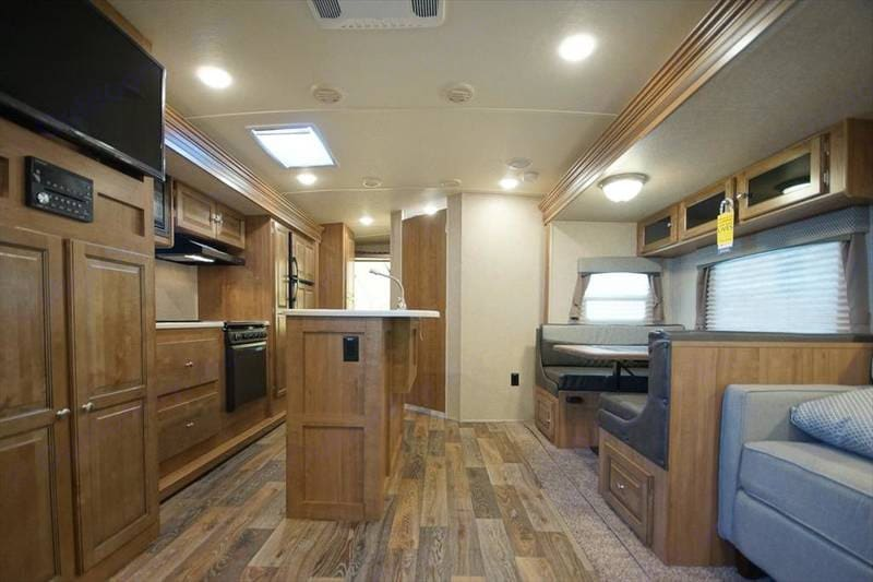 Spacious interior with island. Forest River Rockwood Roo 2017
