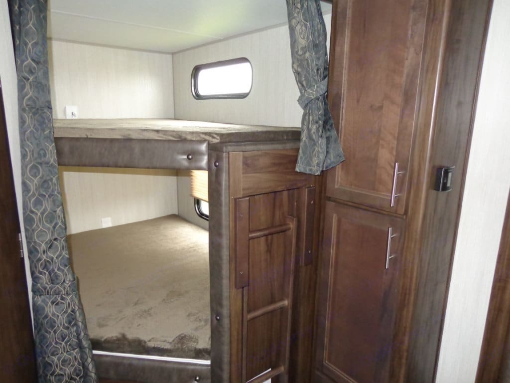 Double Bunks at Rear of RV. Forest River Cherokee Grey Wolf 2019