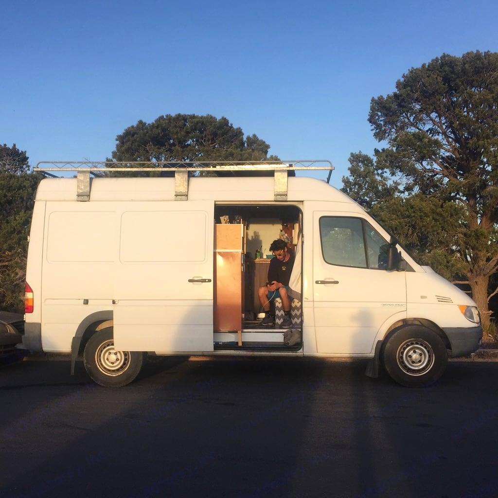 Side view of the van with an open door. . Mercedes-Benz Sprinter 2005