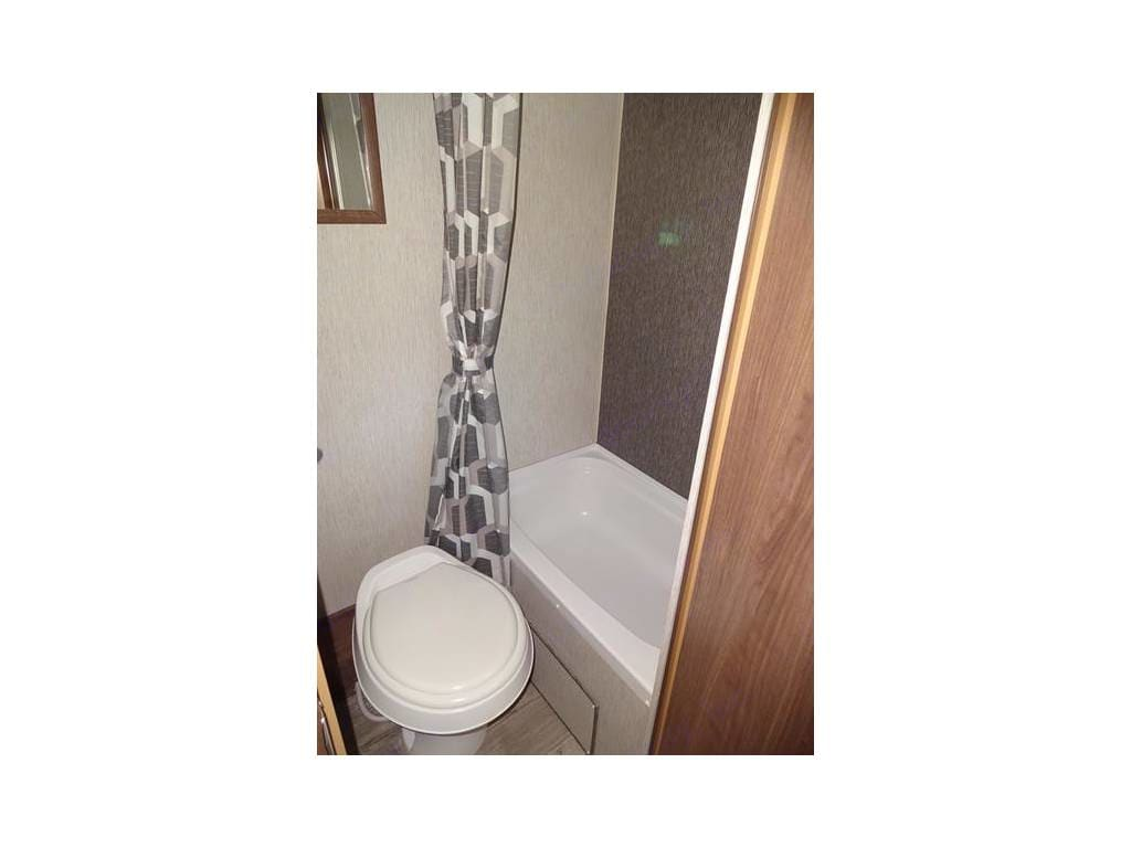 Shower/tub and toilet.. Heartland Pioneer 2018