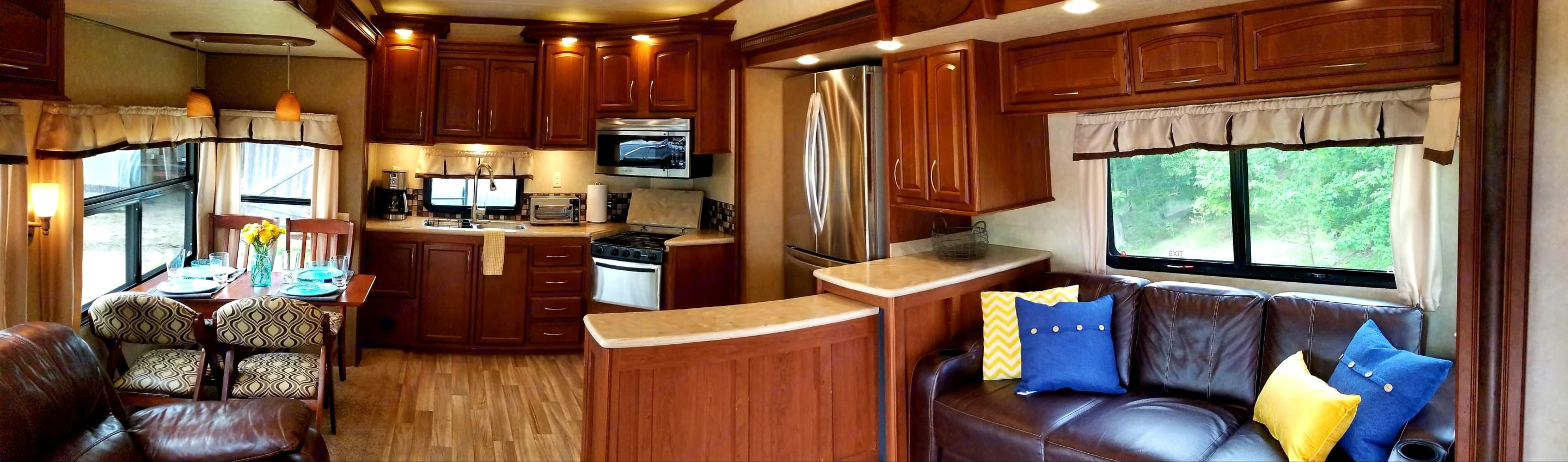 Spacious kitchen to make your camp-site cooking feel like home!. Palomino Columbus 2015