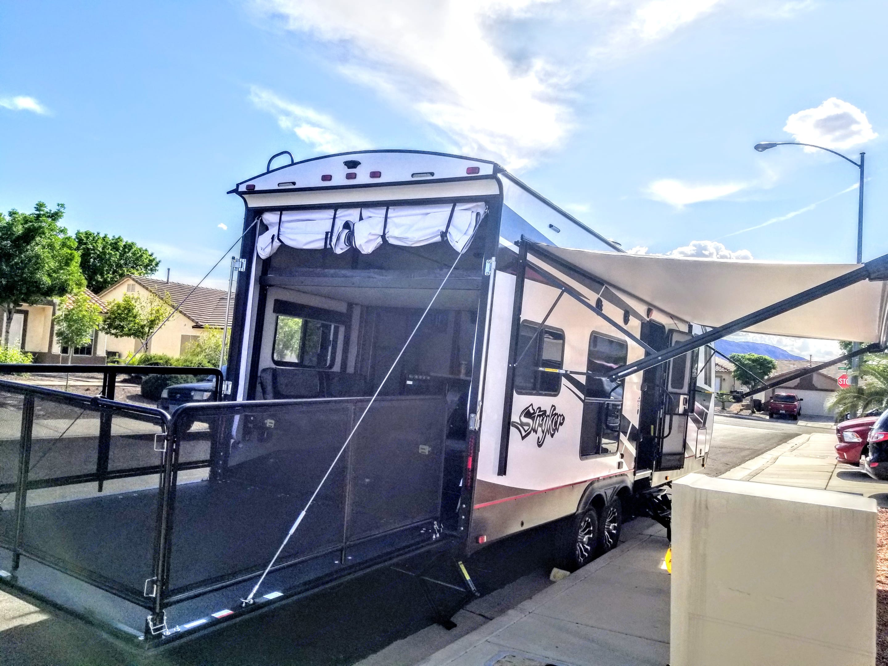 Patio feature is great for enjoying some outdoor views!. Cruiser Rv Corp Stryker 2613 2019