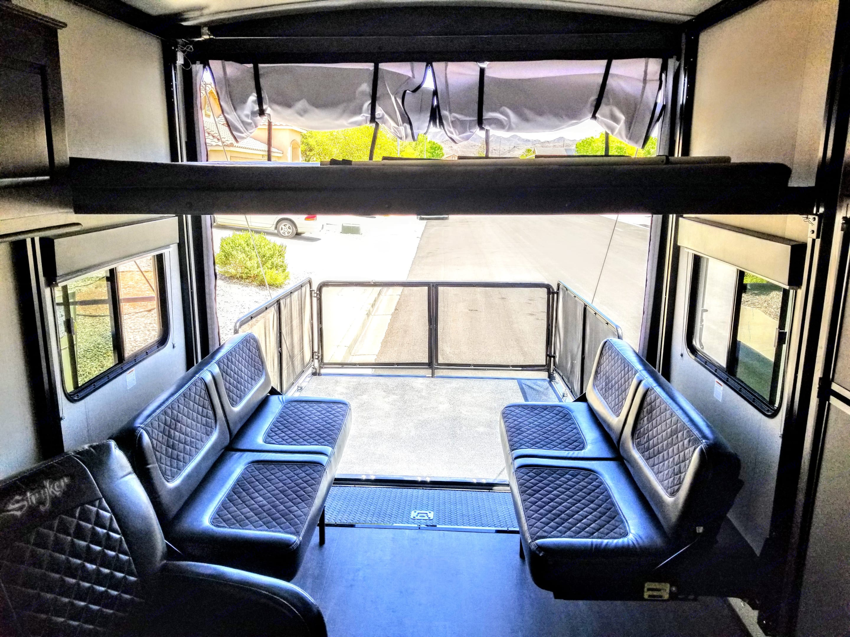 View from inside looking out at the gated patio. . Cruiser Rv Corp Stryker 2613 2019
