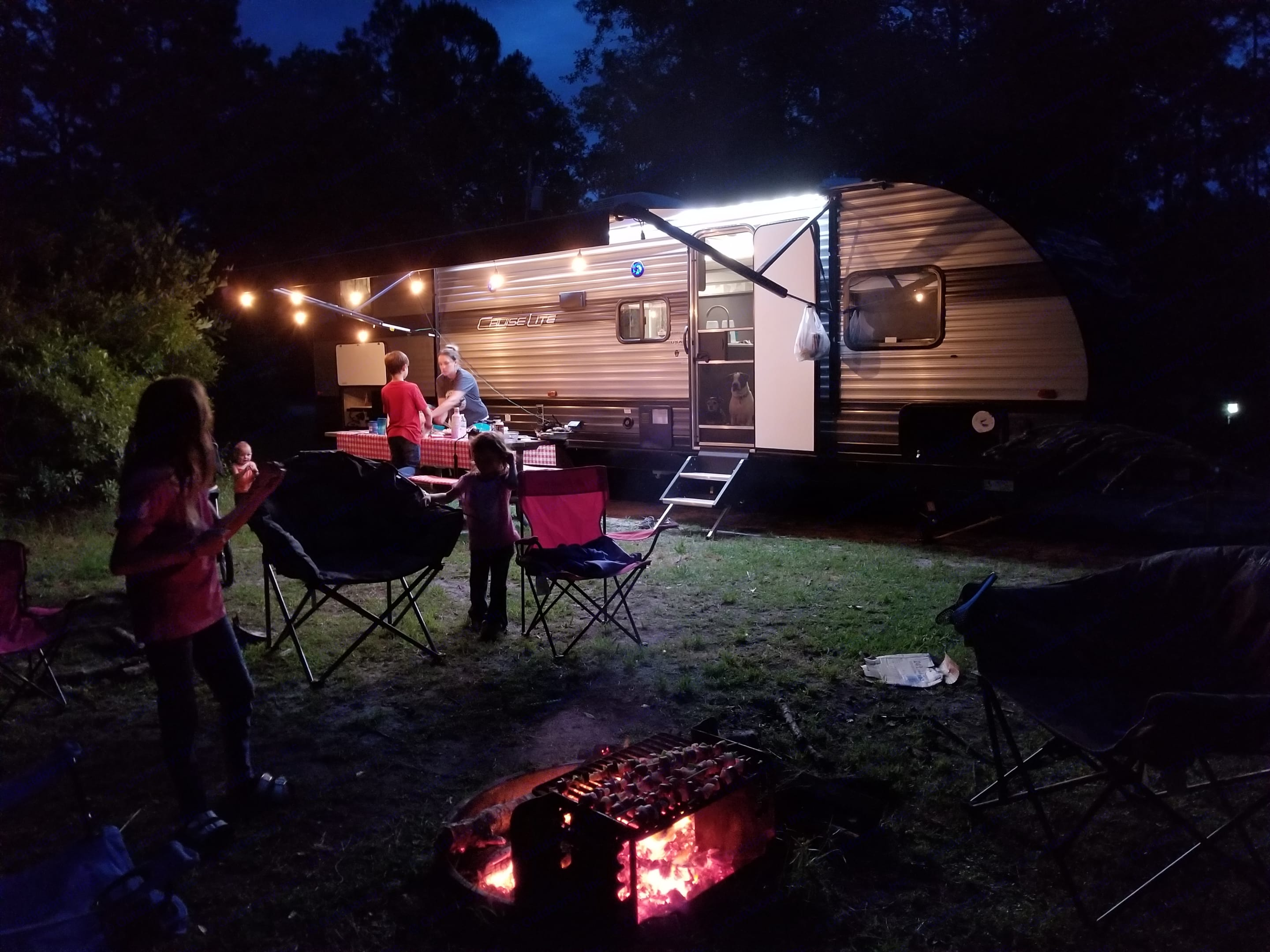 Set up and camping on it's maiden voyage to test it out. . Forest River Cruise Lite 2020