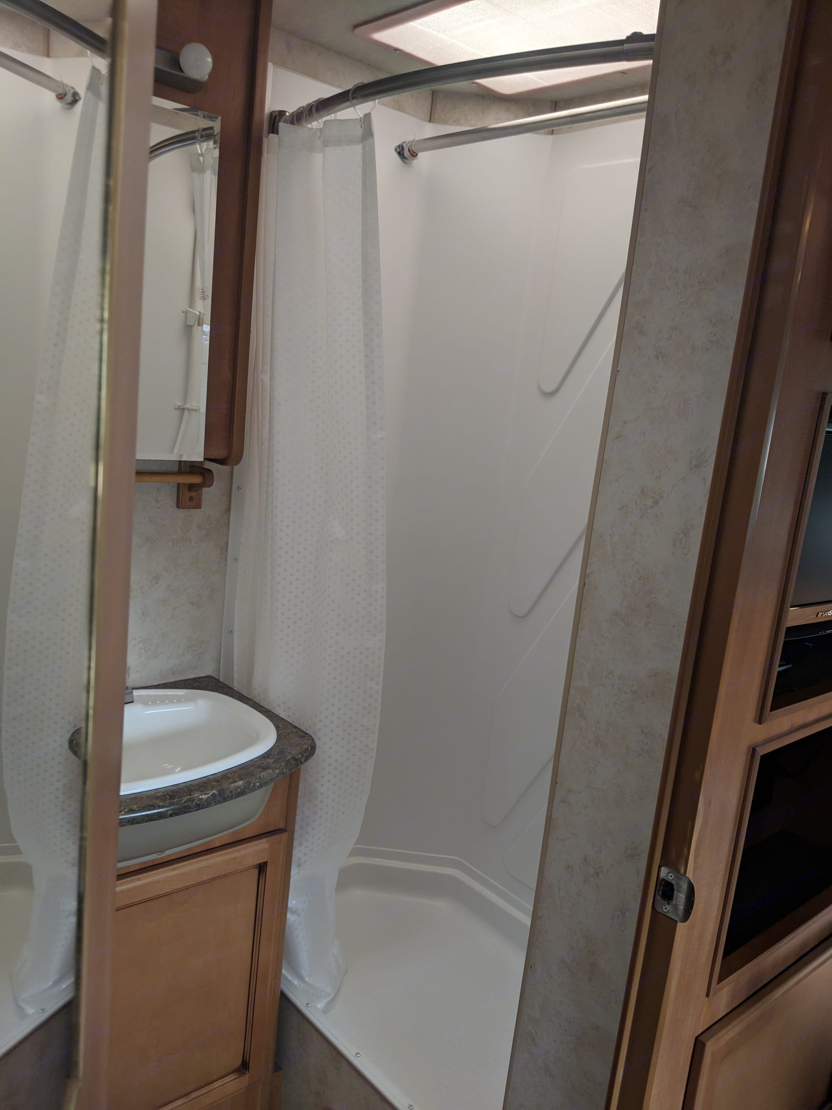 Good size shower available ! . Fleetwood Storm 2011