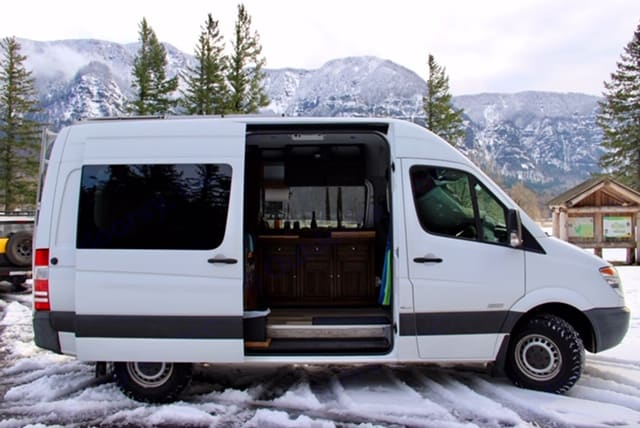 Ski-in, ski-out. Your movable mountain home!. Mercedes-Benz Sprinter 2011