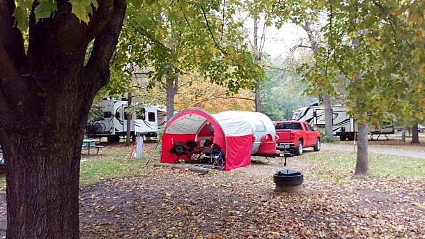 Fall colors and Oktoberfest, Flandrau State Park, New Ulm, MN. Little Guy T@B 2015