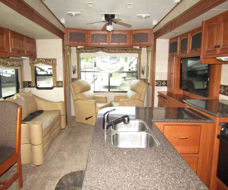 The galley ! Still plenty of space behind this picture know enhancements !. Heartland Big Country 2015