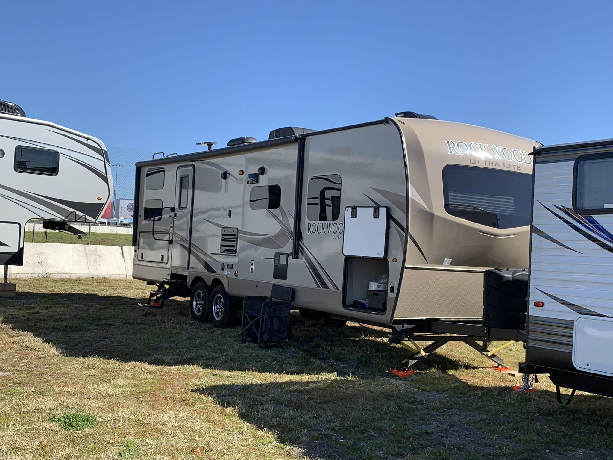 Camping with Friends at Nascar 2019 . Forest River Rockwood Ultra Lite 2018