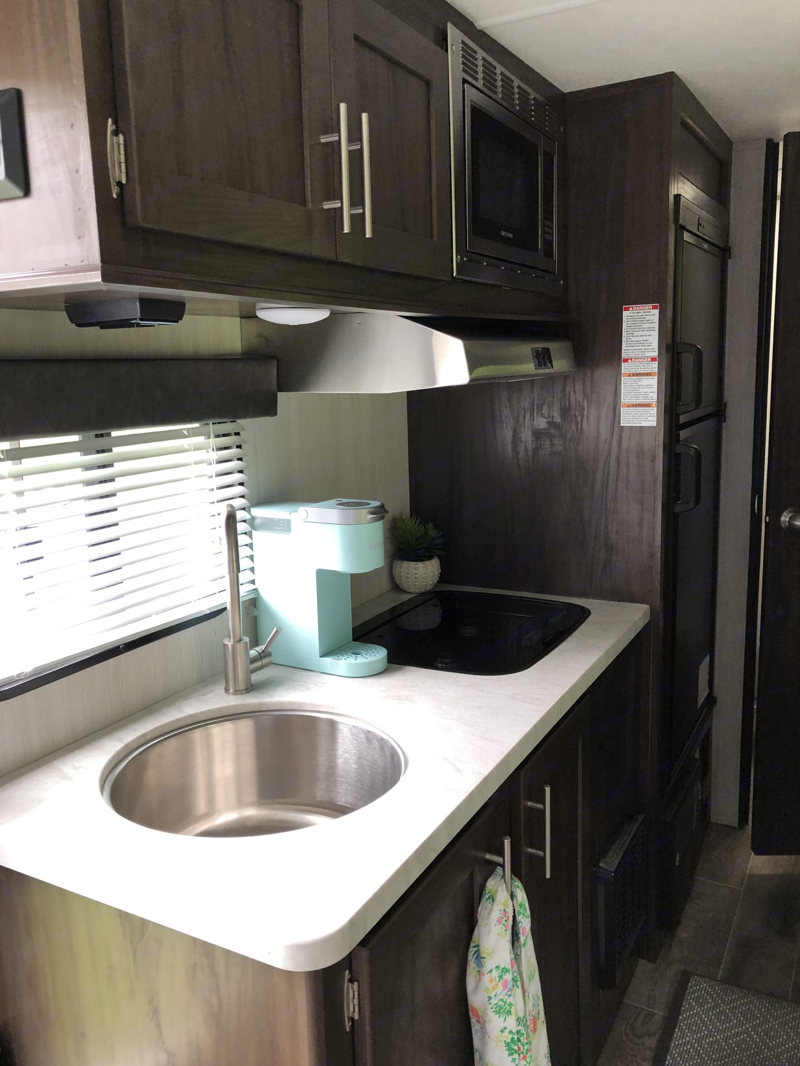 Stove, deep sink and even a Keurig single cup coffee machine!. Forest River Cherokee Wolf Pup 2019