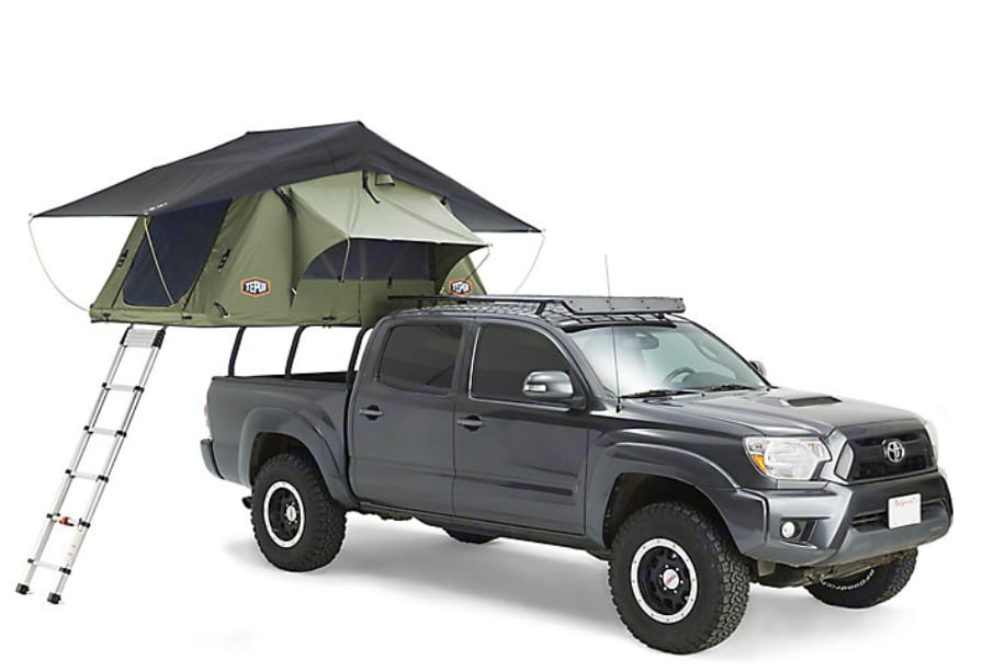 Representative photo of the Tepui Tent that mounts on a rack.. Toyota Tacoma 2003