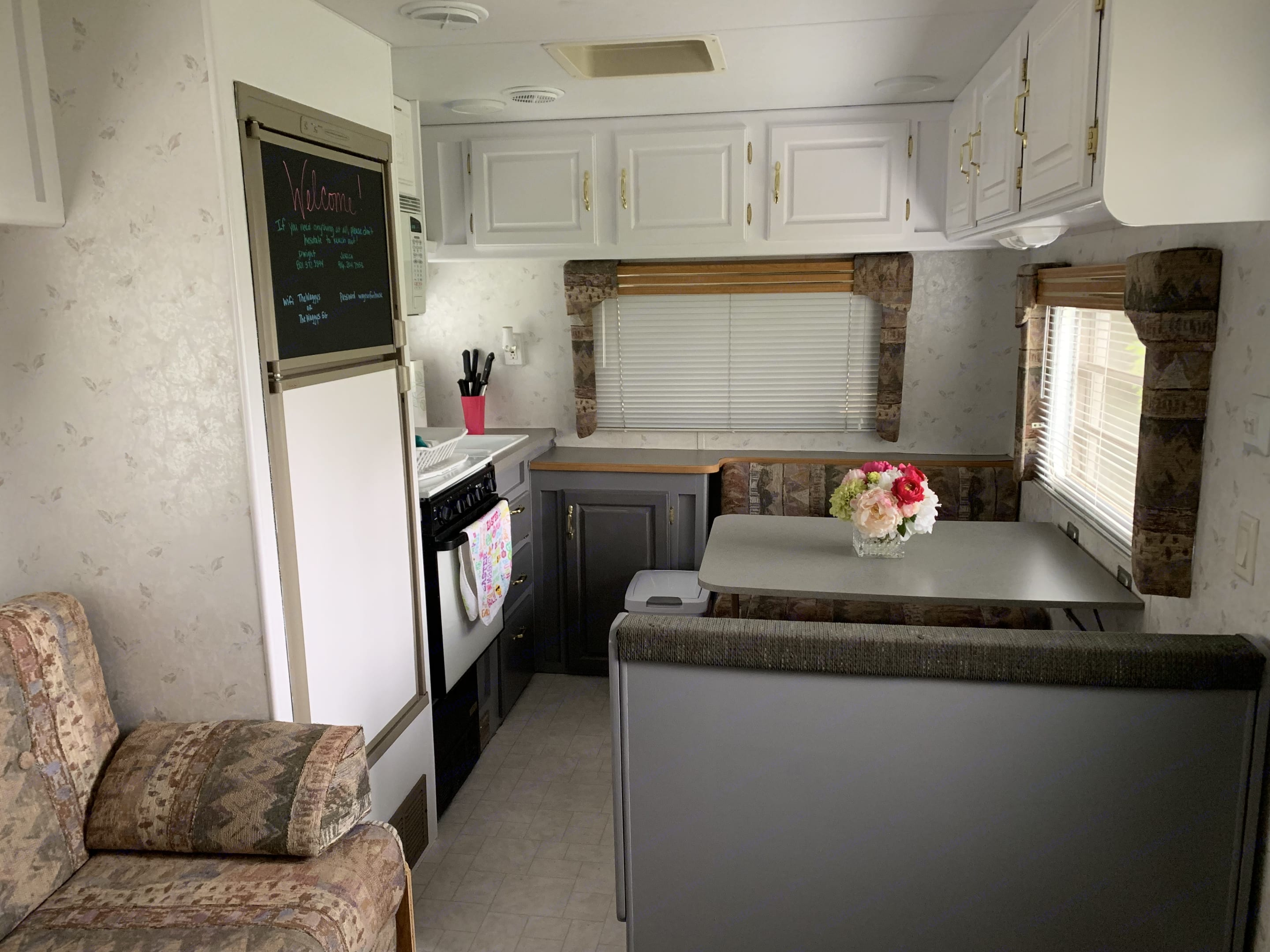Super clean travel trailer. Kitchen is stocked for your cooking needs. . Skyline Aljo 2000