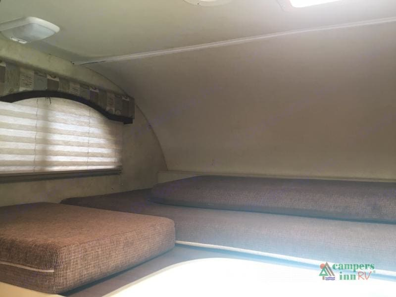 Bunk above the drivers area. Full size mattress. Also has a tv!. Thor Motor Coach Freedom Elite 2012