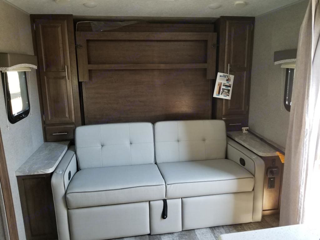 Queen Murphy Bed folded into the wall. . Forest River Rockwood Mini Lite 2019