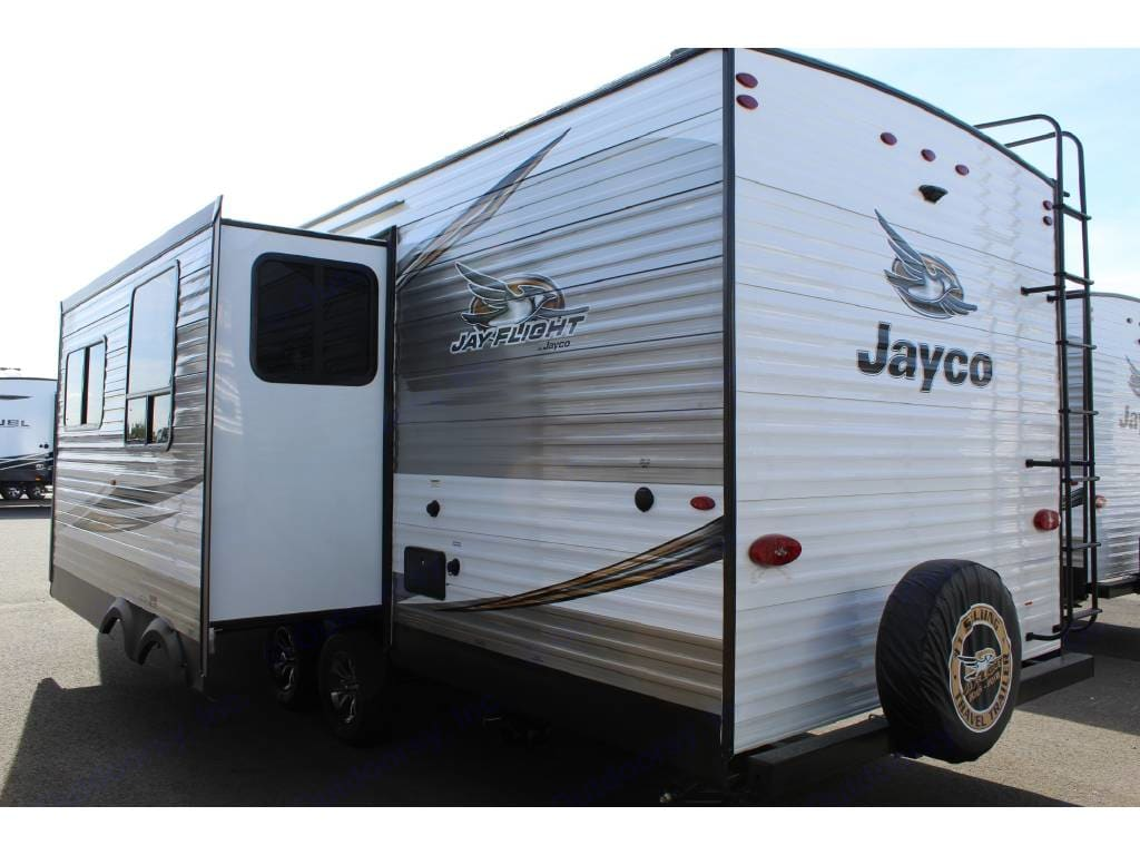 Large power slide out makes the camper feel like a condo. Jayco Flight 2019