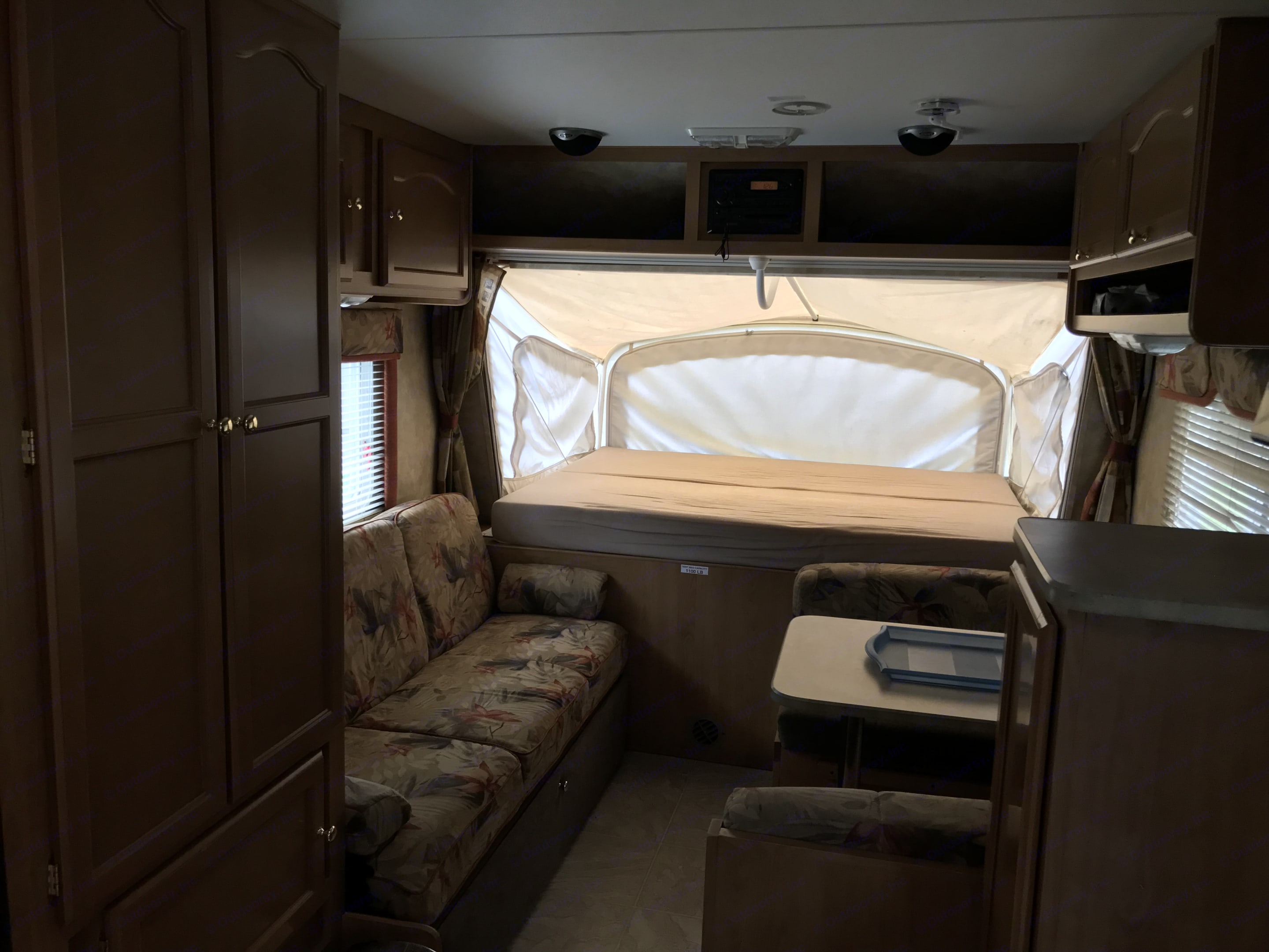 Has closet space and lots of cupboards. Fleetwood Orbit 2006