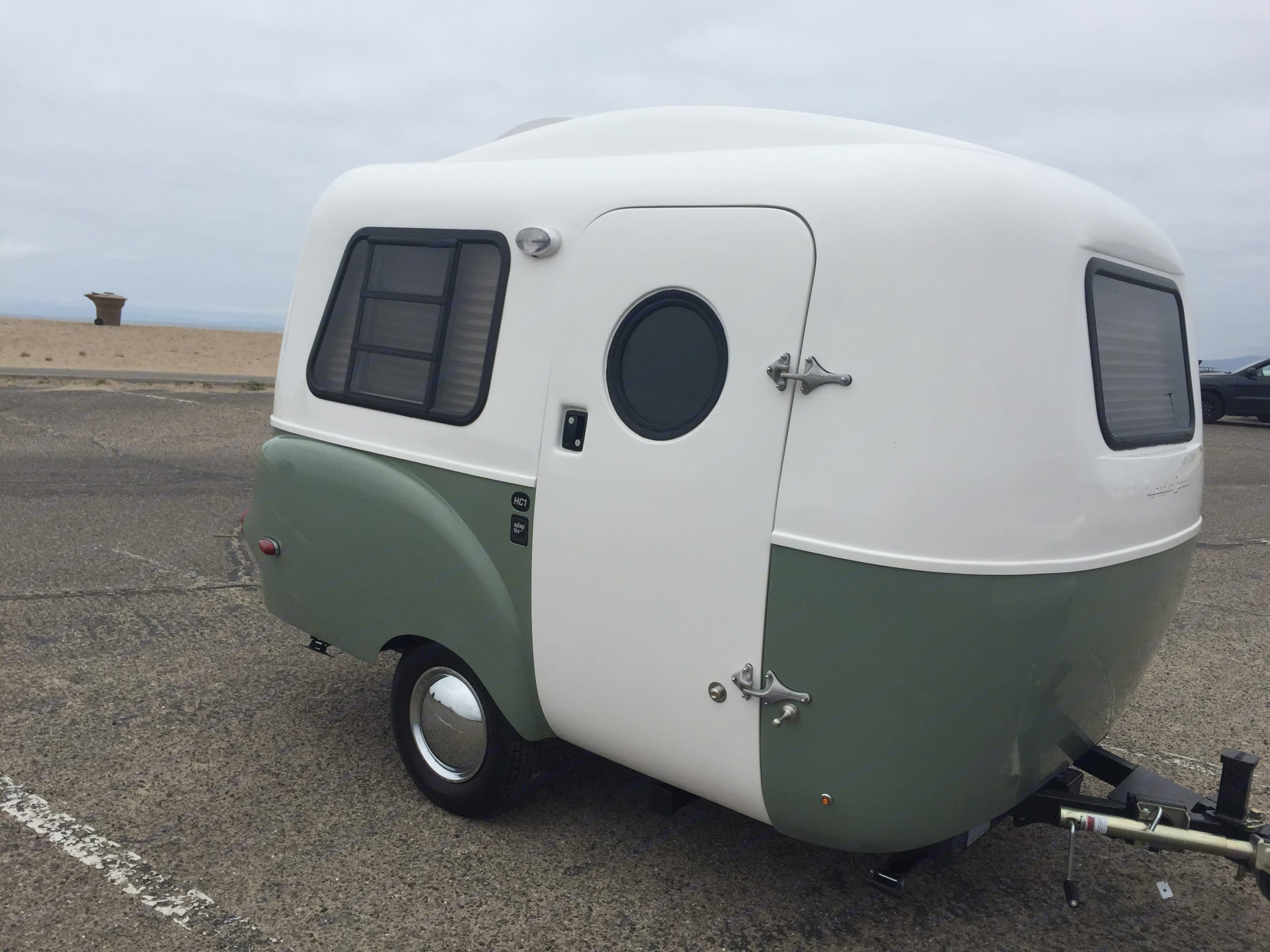 The HC1 has the classic retro look with the feel of a new yacht inside. Easy to tow and gets a lot of attention!. happier camper HC1 2019