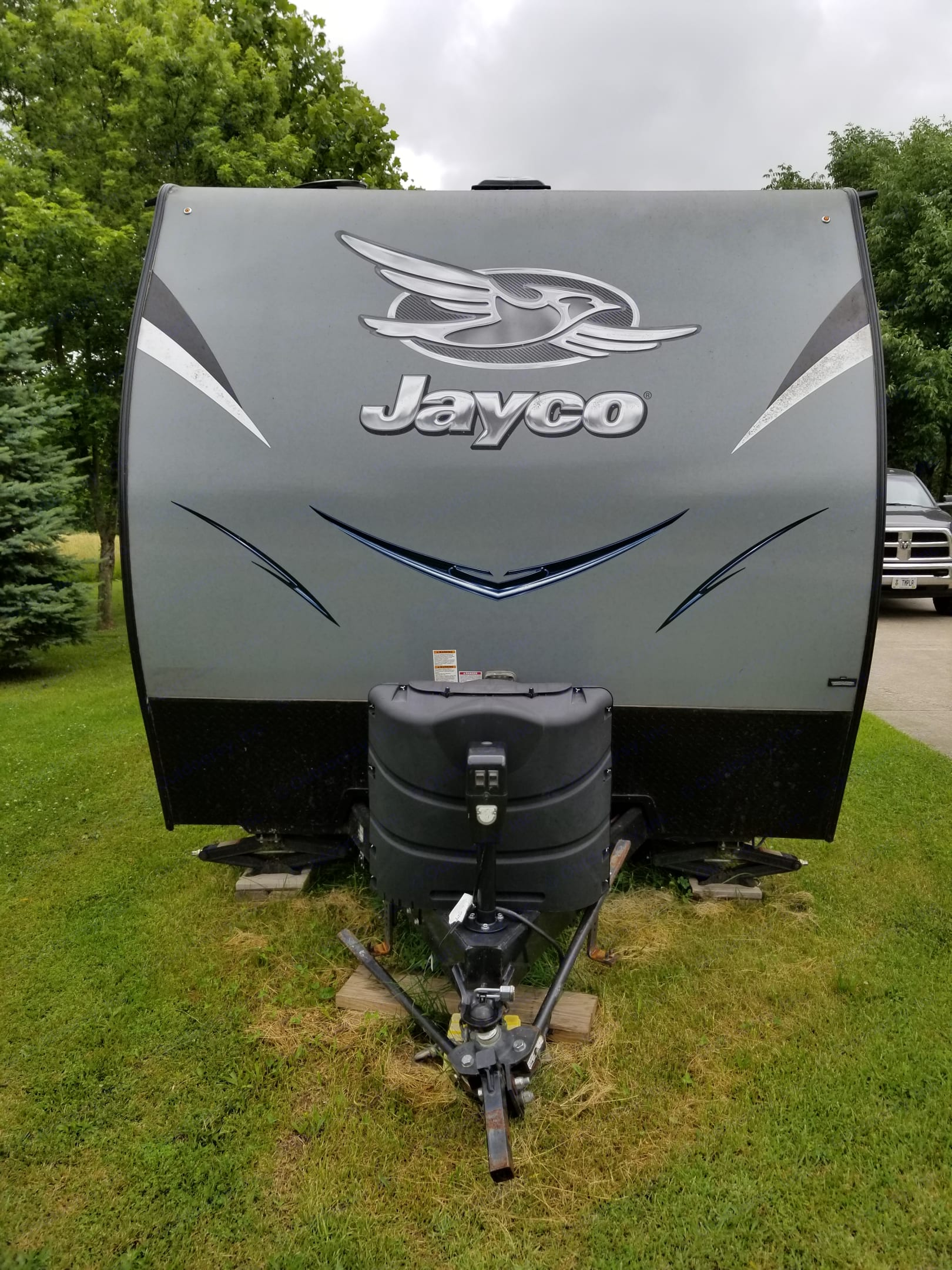 Class V hitch included. All you need is a Class V reciever . Jayco Octane 2017