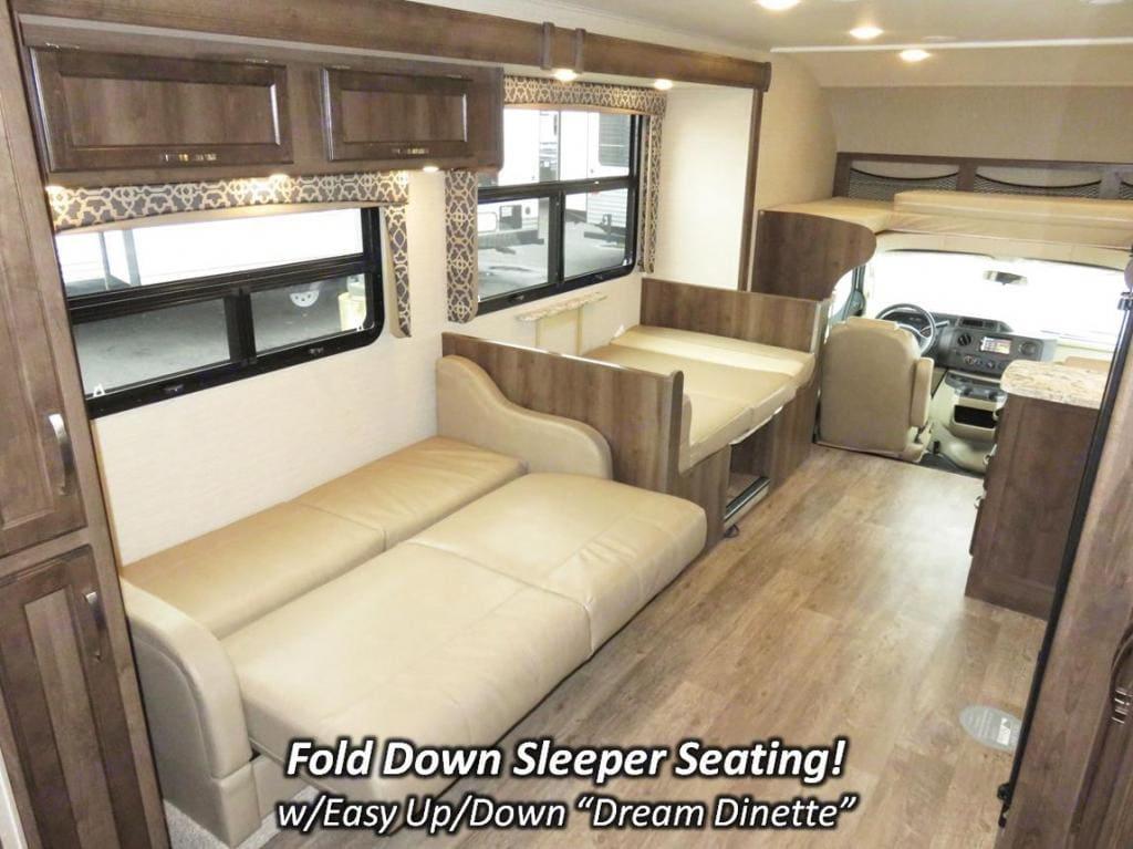 Fold Down Sleeper Seating. Jayco Redhawk 2019