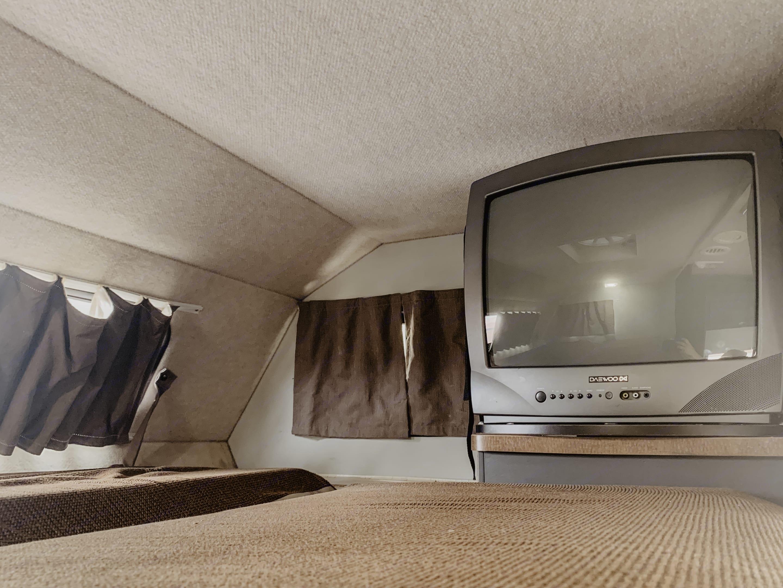 Loft Bed and TV. Fleetwood Tioga 2007